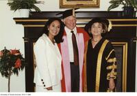 Joseph L. Rotman, honorary degree recipient seen here with his wife and Chancellor Rose Wolfe.