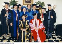 Joseph L. Rotman, honorary degree recipient seen here with his procession dignitaries.