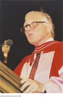 Joseph L. Rotman, honorary degree recipient, adressing convocation.
