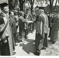 Prince Philip and Robertson Davies at the opening of Massey College