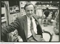 John Polanyi in Laboratory