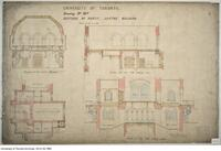 University of Toronto [University College] - Drawing No. 10a Sections of Parts: Center Building