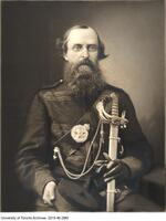 Henry Holmes Croft, in military uniform as captain of No. 9 company, Queen's Own Rifles