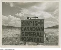 Sign for World War II field hospital No. 15 Canadian General Hospital, El Arrouch, North Africa