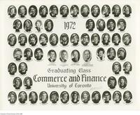 1972 Graduating Class, Commerce and Finance University of Toronto