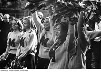 1968 Homecoming Float Parade - St. Michael's College Cheerleaders