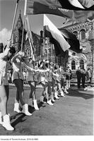 1968 Homecoming Float Parade - Majorettes