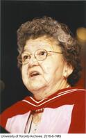 Lillian McGregor addressing graduates at Convocation, having herself received an honorary degree from the University of Toronto
