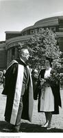Cecil A. Wright at convocation with his daughter Caroline Cecil Wright.