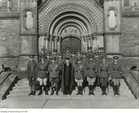 Officers of the COTC University of Toronto contingent with President Cody at the center, November 11th 1937