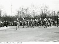 COTC University of Toronto contingent band marching to Remembrance Day service, November 11 1937