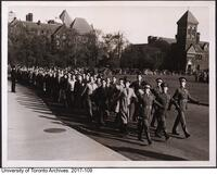 "COTC winter training season (Oct 1940-March 1941) - March past, October 19, 1940 ""F"" Coy"