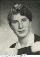 Graduation portrait of Margaret Atwood