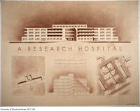 A Research Hospital - cross section drawing