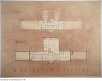 A Research Hospital - fifth and basement floor plan