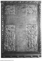 Tablet of Soldiers' Memorial Cross, University College, east wall of rotunda