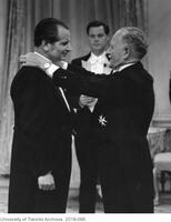 James Ham receiving the Companion of the Order of Canada from Governor General Roland Michener,