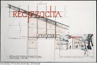 Sketch of the Canadian Pavilion for Reciprocity Exhibit - 'Patkau + 6'; prepared by Larry Richards for the Biennale Venice IV International Exhibition of Architecture