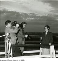 Helen Sawyer Hogg being interviewed
