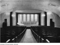 Hart House Theatre showing stage set for a production of Alcestis, Feb. 1921