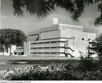 Exterior shot of the Medical Sciences Building soon after completion