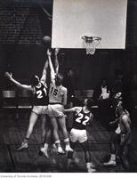 """Get that rebound"" - Hart House Camera Club exhibit photograph"