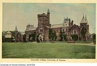 Postcard titled: University College. Toronto Ontario