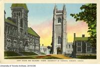 Postcard titled: Hart House and Soldier's Tower, Toronto, Canada
