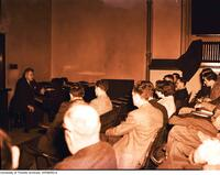 Sir Ernest Macmillan addresses the Medical Arts and Letters Club at the Banting Institute