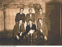 Intramural Men's Volleyball: Meds 5T3 team, Winners of Victoria Staff Cup, 1949-1950