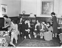 Members of the Medical Women's Undergraduate Association at a social